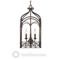 Golden Lighting 5815-3P-FB Smithsonian Gateway 3 Light 12 inch Fired Bronze Pendant Ceiling Light photo thumbnail