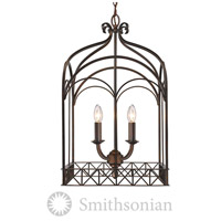 Golden Lighting Gateway 4 Light Pendant in Fired Bronze 5815-4P-FB