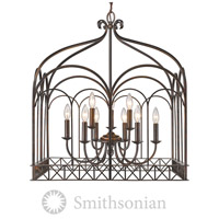 Golden Lighting 5815-9-FB Smithsonian Gateway 9 Light 26 inch Fired Bronze Chandelier Ceiling Light