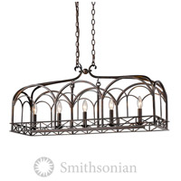 Gateway 5 Light 37 inch Fired Bronze Linear Pendant Ceiling Light