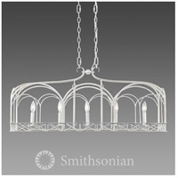 Smithsonian Gateway 5 Light 37 inch French White Linear Pendant Ceiling Light