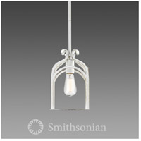 Smithsonian Gateway 1 Light 7 inch French White Mini Pendant Ceiling Light