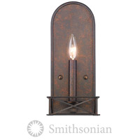 Smithsonian Gateway 1 Light 6 inch Fired Bronze Wall Sconce Wall Light