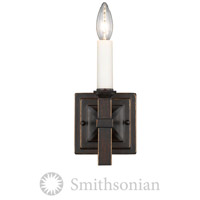 Smithsonian Bradley 1 Light 5 inch Cordoban Bronze Wall Sconce Wall Light in No Shade