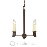 Golden Lighting 5907-4-CDB Bradley 4 Light 13 inch Cordoban Bronze Chandelier Ceiling Light in No Shade
