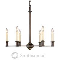 Golden Lighting Smithsonian 5907-6-CDB Bradley 6 Light 26 inch Cordoban Bronze Chandelier Ceiling Light in No Shade