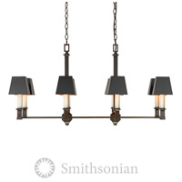 Smithsonian Bradley 8 Light 39 inch Cordoban Bronze Linear Pendant Ceiling Light in Black