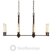 Golden Lighting Smithsonian 5907-LP-CDB Bradley 8 Light 36 inch Cordoban Bronze Linear Pendant Ceiling Light in No Shade