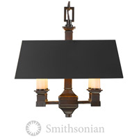 Golden Lighting 5907-SF-CDB-BLK Smithsonian Bradley 4 Light 13 inch Cordoban Bronze Semi-Flush Mount Ceiling Light, Convertible