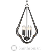Smithsonian Saxon 4 Light 18 inch Aged Bronze Pendant Ceiling Light