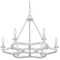 Golden Lighting 5926-6 OY Smithsonian Saxon 6 Light 27 inch Oyster Chandelier Ceiling Light
