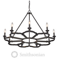 Smithsonian Saxon 9 Light 35 inch Aged Bronze Chandelier Ceiling Light