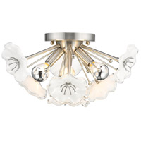 Smithsonian Kyoto 3 Light 14 inch Pewter Flush Mount Ceiling Light