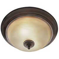 Golden Lighting Lancaster 2 Light Flush Mount in Rubbed Bronze 6005-13-RBZ