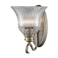 Golden Lighting Lancaster 1 Light Wall Sconce in Antique Brass with Clarion Glass 6005-1W-AB alternative photo thumbnail