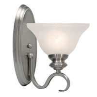 Golden Lighting 6005-1W-PW Lancaster 1 Light 8 inch Pewter Wall Sconce Wall Light in Marbled Glass alternative photo thumbnail