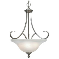 Golden Lighting 6005-3P-PW Lancaster PW 3 Light 17 inch Pewter Pendant - Bowl Ceiling Light in Marbled Glass Bowl
