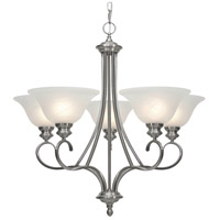Golden Lighting Lancaster 5 Light Chandelier in Pewter with Marbled Glass 6005-5-PW alternative photo thumbnail