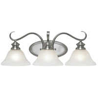 Golden Lighting 6005-BA3-PW Lancaster 3 Light 23 inch Pewter Bath Vanity Wall Light in Marbled Glass