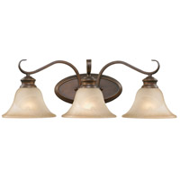 Lancaster 3 Light 23 inch Rubbed Bronze Bath Vanity Wall Light in Antique Marbled Glass