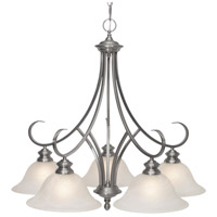 Golden Lighting Lancaster 5 Light Mini Chandelier in Pewter 6005-D5-PW