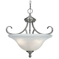 Lancaster 3 Light 17 inch Pewter Semi-Flush Mount Ceiling Light in Marbled Glass, Convertible