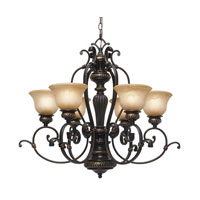 Golden Lighting Jefferson 6 Light Chandelier in Etruscan Bronze 6029-6-EB