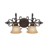 Golden Lighting Jefferson 2 Light Bath Fixture in Etruscan Bronze with Antique Marbled Glass 6029-BA2-EB alternative photo thumbnail