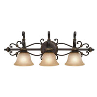 Golden Lighting Jefferson 3 Light Bath Fixture in Etruscan Bronze with Antique Marbled Glass 6029-BA3-EB