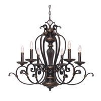 Golden Lighting Jefferson 6 Light Chandelier in Etruscan Bronze with Drip Candlesticks 6029-CN6-EB alternative photo thumbnail