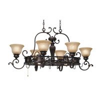 Golden Lighting Jefferson 8 Light Pot Rack in Etruscan Bronze 6029-PR62-EB