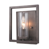 Golden Lighting Marco 1 Light Wall Sconce in Gunmetal Bronze 6068-1W-GMT alternative photo thumbnail
