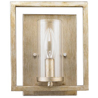 Golden Lighting Marco 1 Light Sconce in White Gold 6068-1W-WG