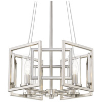 Golden Lighting 6068-4P-PW Marco 4 Light 16 inch Pewter Pendant Ceiling Light Convertible to Semi-Flush