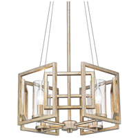 Golden Lighting 6068-4P-WG Marco 4 Light 16 inch White Gold Pendant Ceiling Light Convertible to Semi-Flush