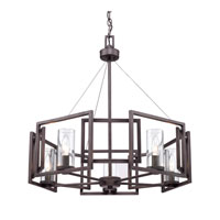 Golden Lighting 6068-5-GMT Marco 5 Light 25 inch Gunmetal Bronze Chandelier Ceiling Light alternative photo thumbnail