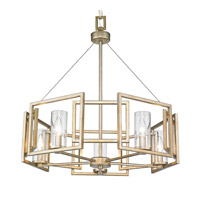 Golden Lighting 6068-5-WG Marco 5 Light 25 inch White Gold Chandelier Ceiling Light alternative photo thumbnail