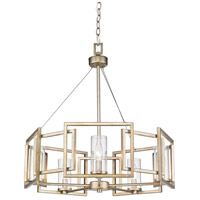 Golden Lighting 6068-5-WG Marco 5 Light 25 inch White Gold Chandelier Ceiling Light