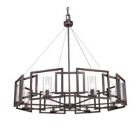 Golden Lighting 6068-8-GMT Marco 8 Light 36 inch Gunmetal Bronze Chandelier Ceiling Light alternative photo thumbnail