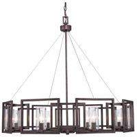 Golden Lighting Marco 8 Light Chandelier in Gunmetal Bronze with Clear Glass 6068-8-GMT