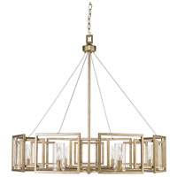 Golden Lighting 6068-8 WG Marco 8 Light 36 inch White Gold Chandelier Ceiling Light, Large