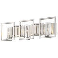 Golden Lighting 6068-BA3-PW Marco 3 Light 26 inch Pewter Bath Vanity Light Wall Light