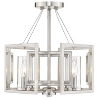 Golden Lighting 6068-SF-PW Marco 4 Light 16 inch Pewter Semi-Flushmount Ceiling Light, Convertible to Pendant