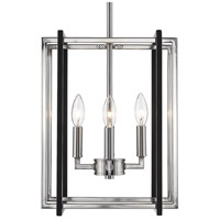 Tribeca 4 Light 12 inch Pewter Mini Chandelier Ceiling Light