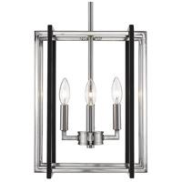 Golden Lighting 6070-4-PW-BLK Tribeca 4 Light 12 inch Pewter Mini Chandelier Ceiling Light