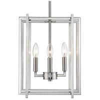 Golden Lighting 6070-4-PW-PW Tribeca 4 Light 12 inch Pewter Mini Chandelier Ceiling Light