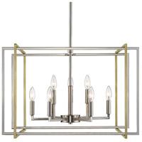Golden Lighting 6070-9-PW-AB Tribeca 9 Light 26 inch Pewter Chandelier Ceiling Light