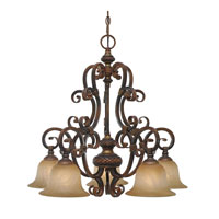 Golden Lighting Alante 5 Light Chandelier in Golden Pecan 6095-D5-GP