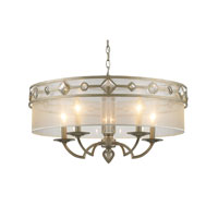 Golden Lighting Coronada 5 Light Chandelier in White Gold 6390-5-WG