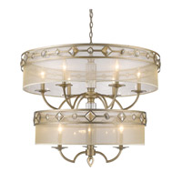 Coronada 9 Light 33 inch White Gold Chandelier Ceiling Light, 2 Tier